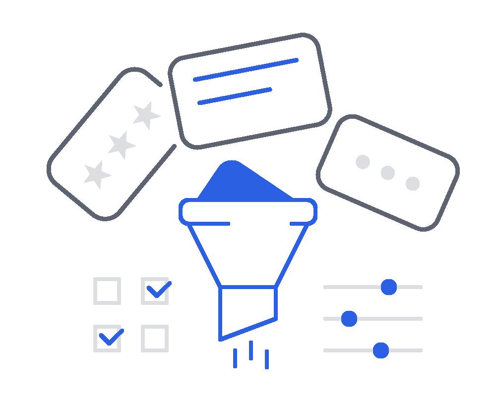 Фильтр и характеристики товаров